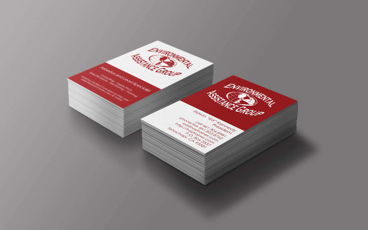 Eag business card design josianet webdesign for Business cards bakersfield