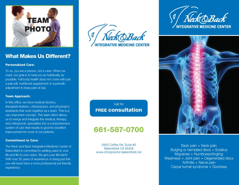 back & neck Center brochure design by josia.net