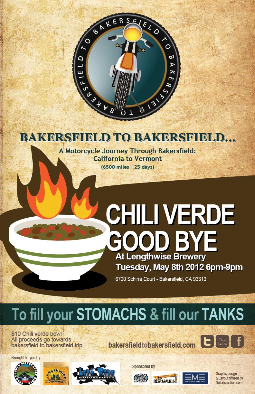 Bakersfield to Bakersfield poster & logo design