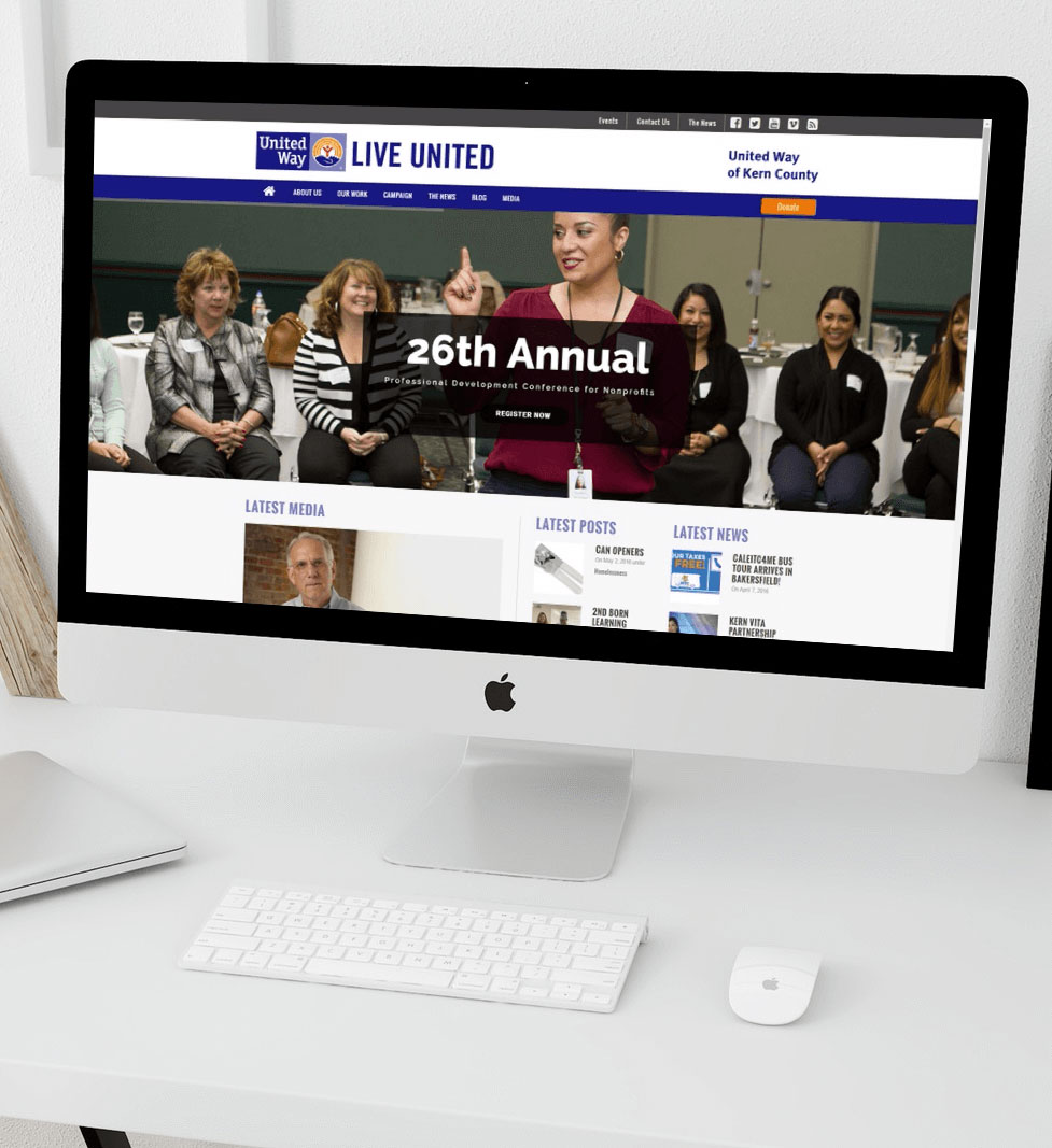 United way kern website design