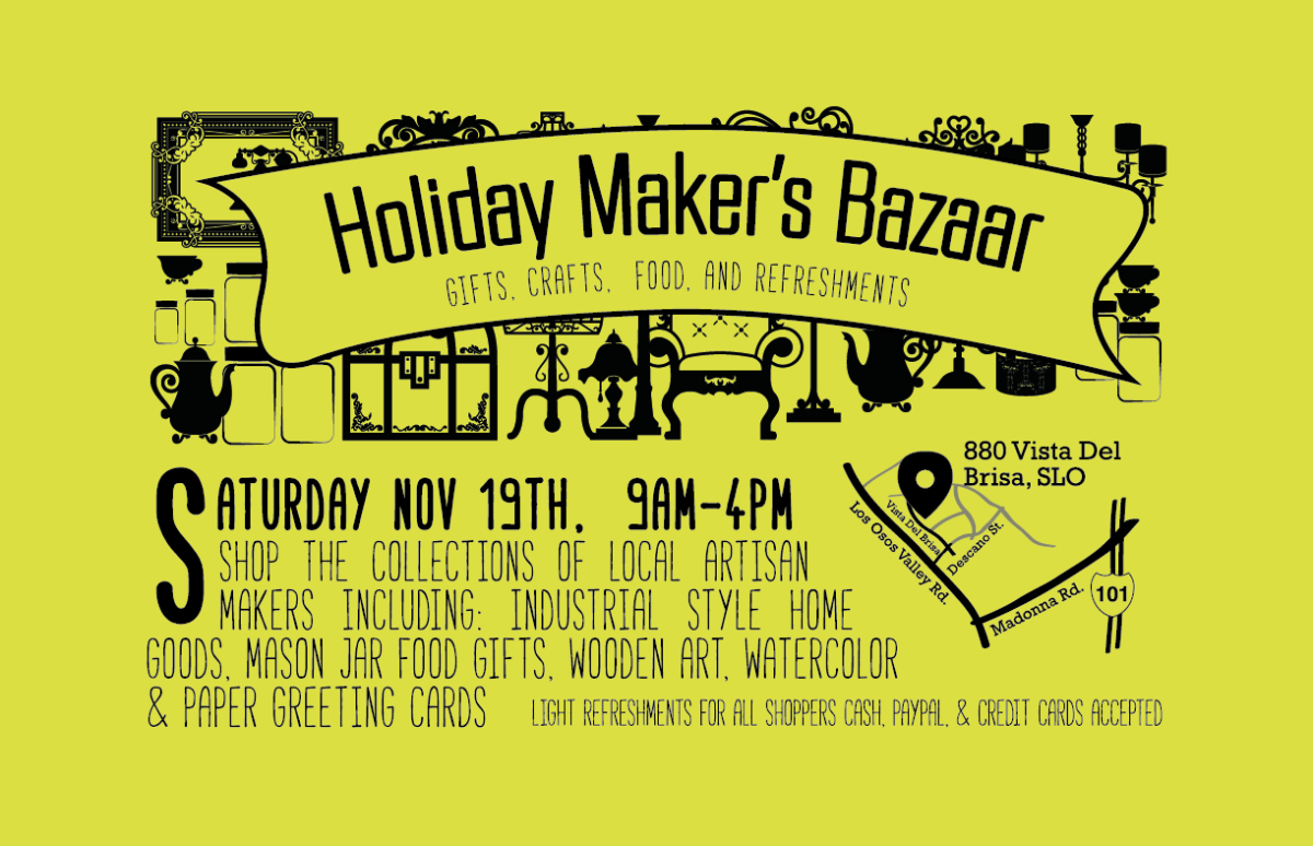 holliday Maker's Bazaar - Flyer design - Bakersfileld
