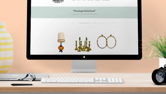 shipwrecked goods wedesign logo design